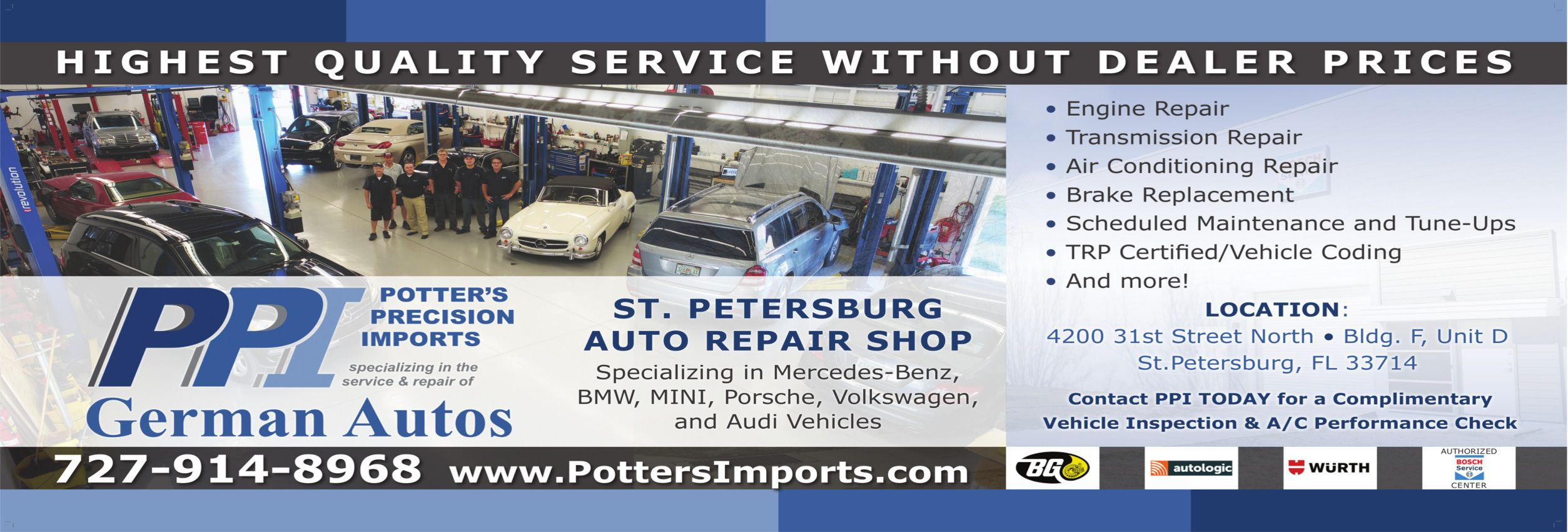 St. Petersburg Import Auto Repair Shop   Potter's Precision Imports